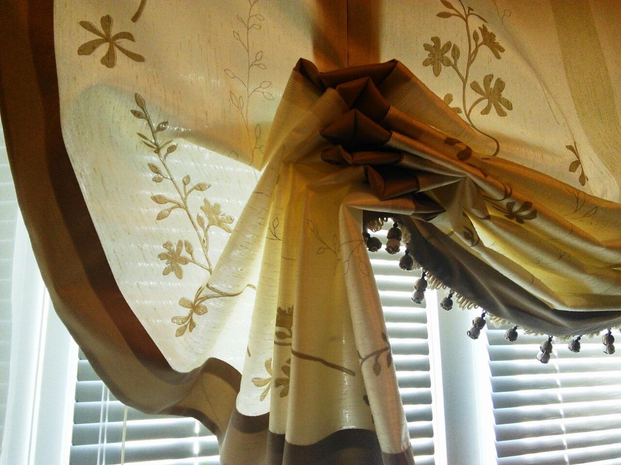 Каскадные римские шторы своими руками