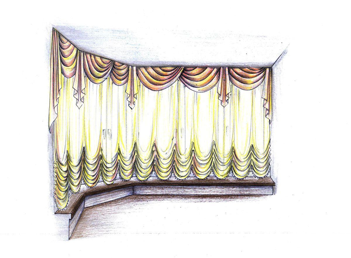 Выбрать эскиз ламбрекена фото