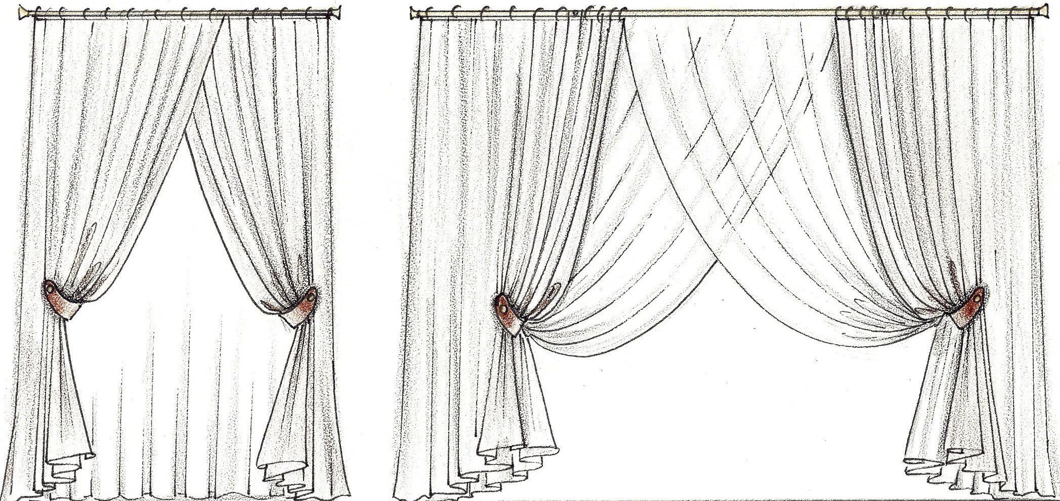 картинка как нарисовать шторы ещё, когда покидал